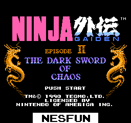 Ninja Gaiden 2 - Dark Sword of Chaos